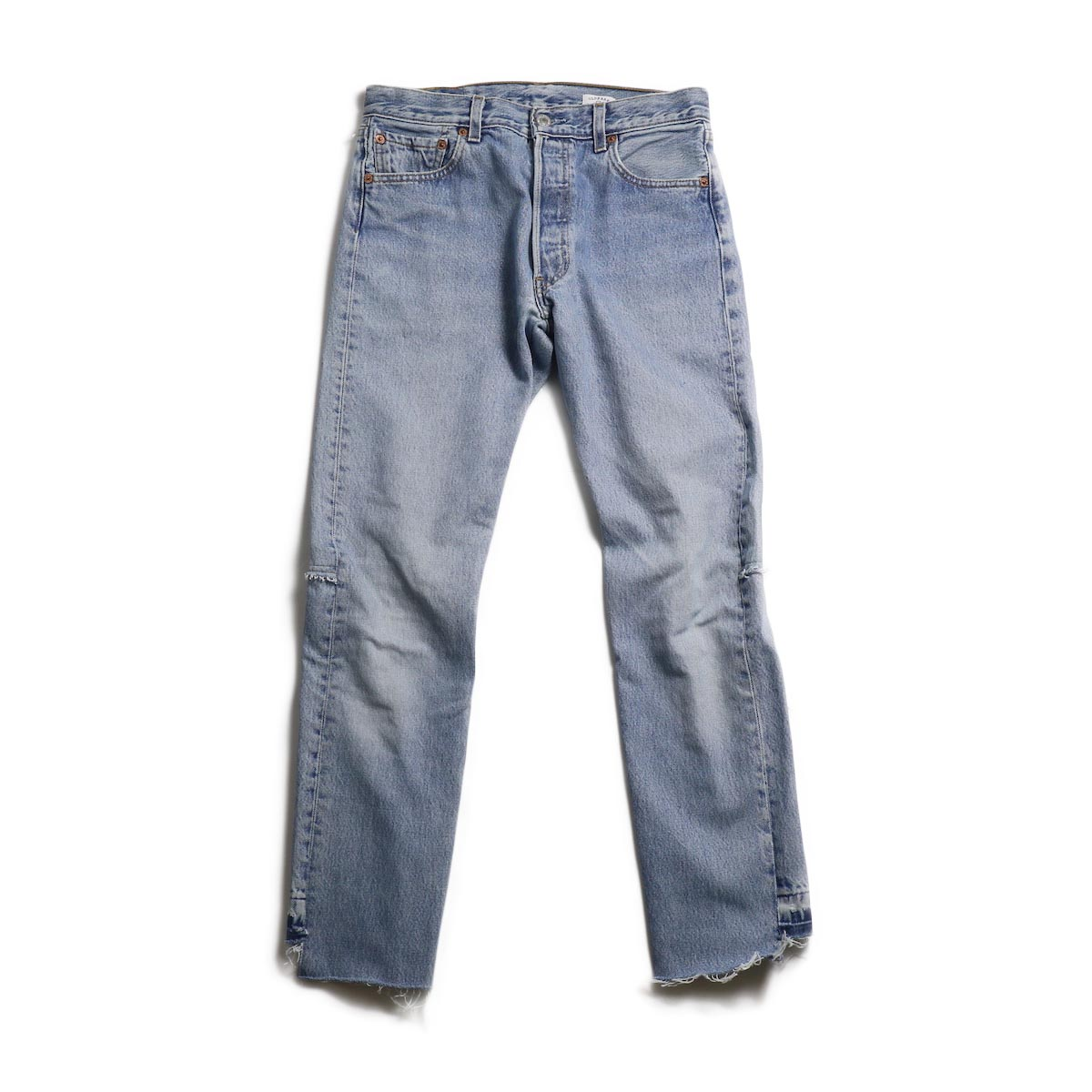 OLD PARK / Back Flare Jeans -Blue Ssize (C)