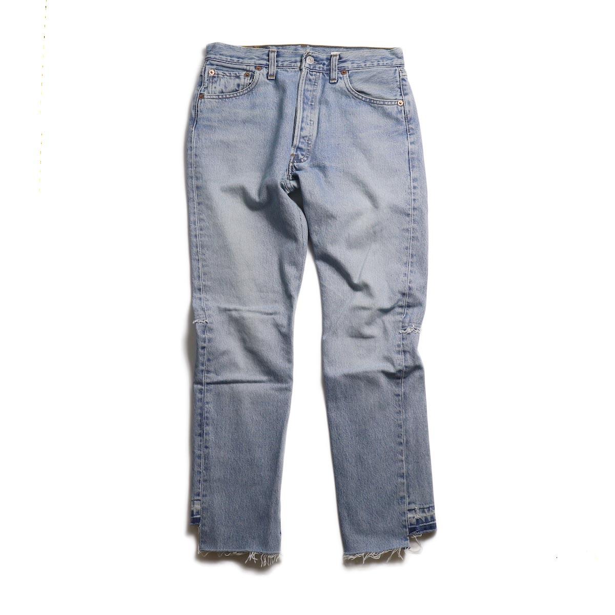 OLD PARK / Back Flare Jeans -Blue Ssize (D)
