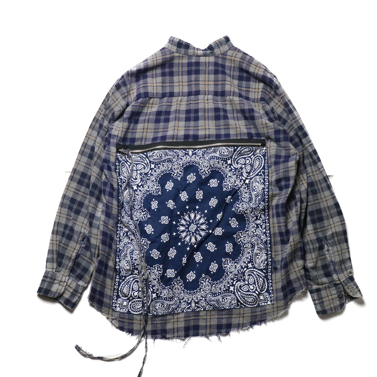 OLD PARK / Bandana Bag Shirt Flannel (a)