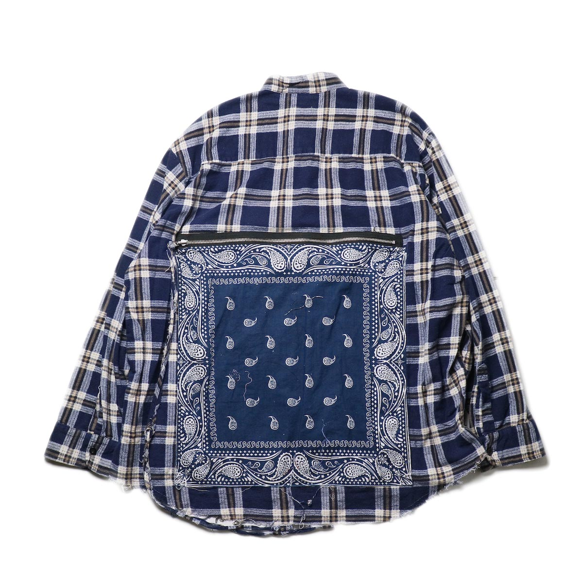 OLD PARK / Bandana Bag Shirt Flannel (c)