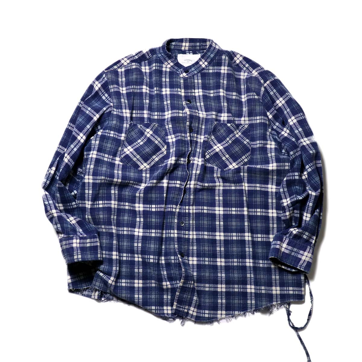 OLD PARK / Bandana Bag Shirt Flannel (A)正面