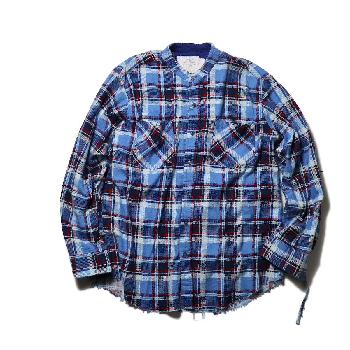 OLD PARK / Bandana Bag Shirt Flannel (B)正面
