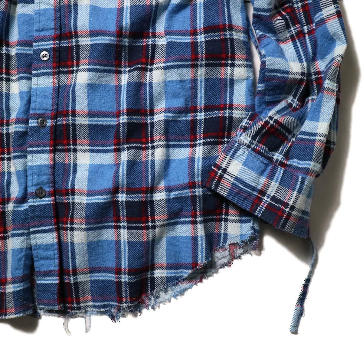 OLD PARK / Bandana Bag Shirt Flannel (B)バンドカラー