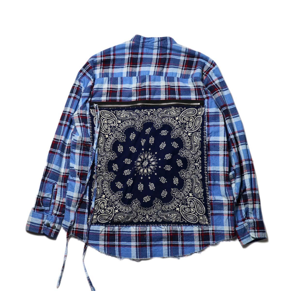 OLD PARK / Bandana Bag Shirt Flannel (B)カットオフ