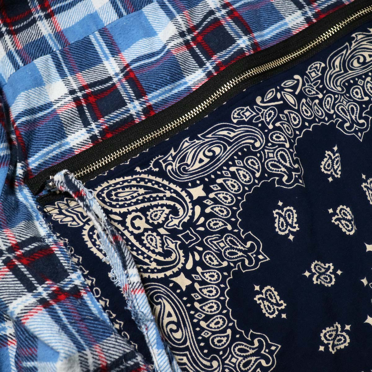 OLD PARK / Bandana Bag Shirt Flannel (B)背面