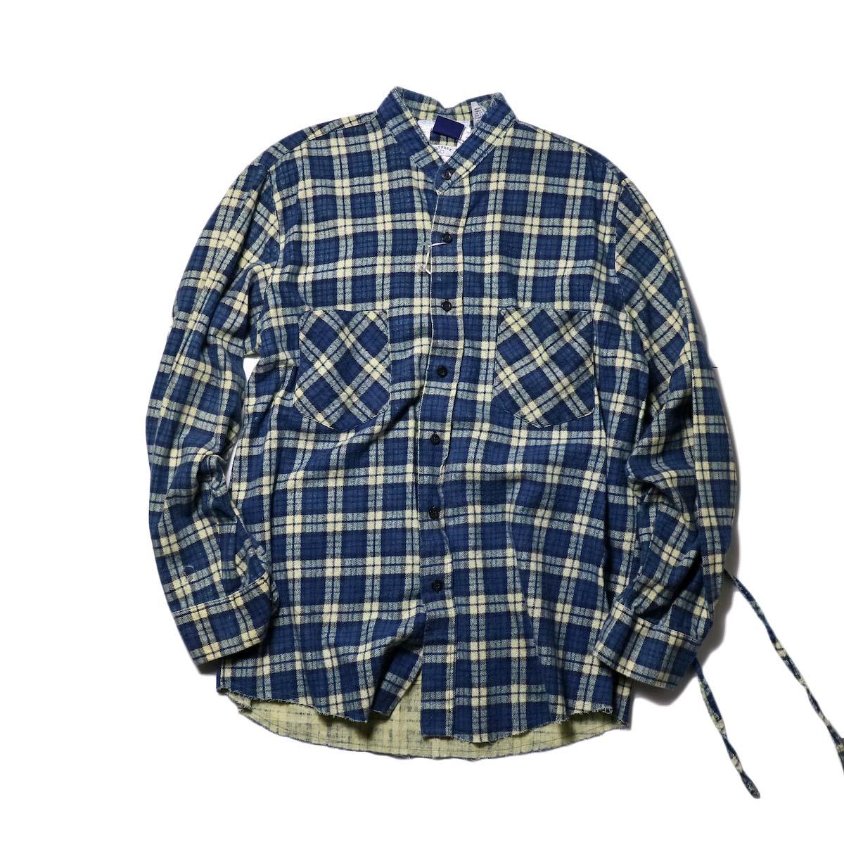 OLD PARK / Bandana Bag Shirt Flannel (C)正面
