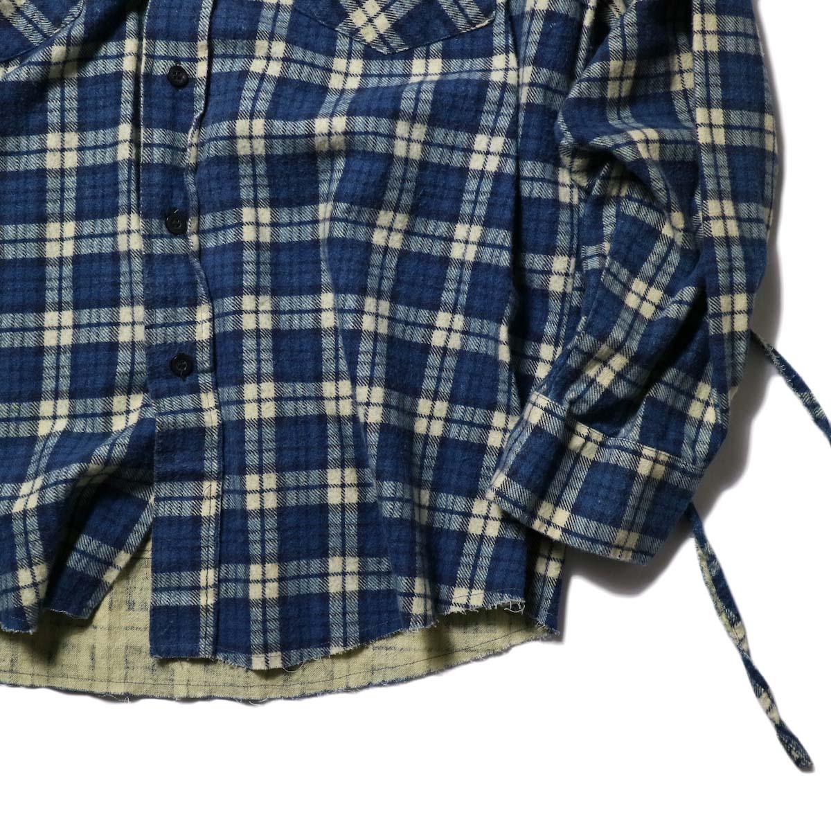 OLD PARK / Bandana Bag Shirt Flannel (C)袖、裾