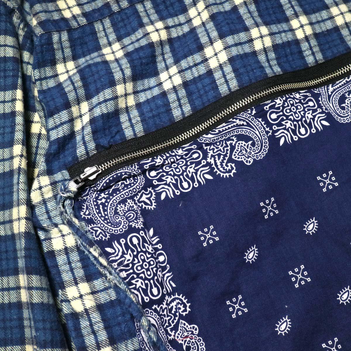 OLD PARK / Bandana Bag Shirt Flannel (C)ジップ