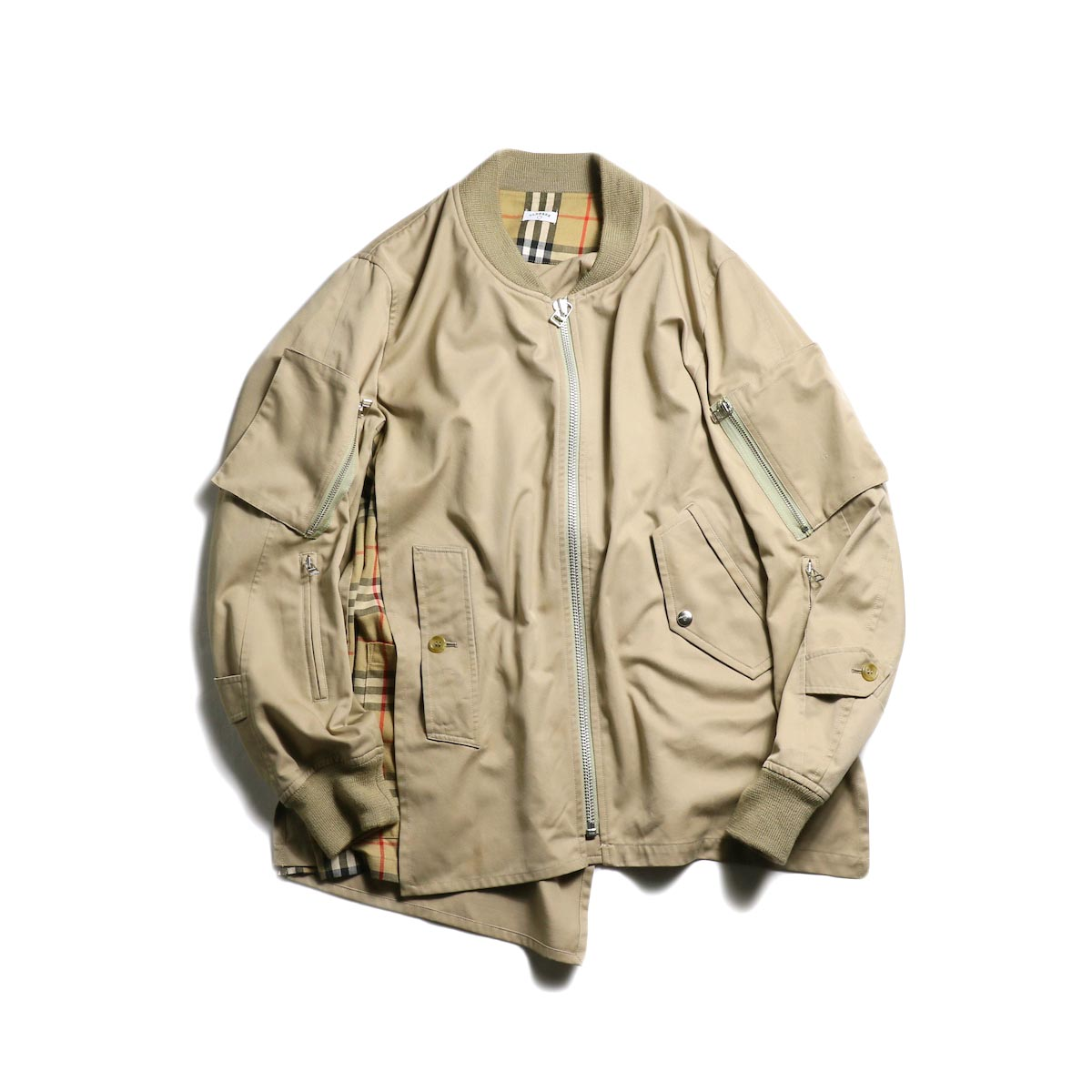 OLD PARK / F.L Flight Jacket (Burberry) -Beige