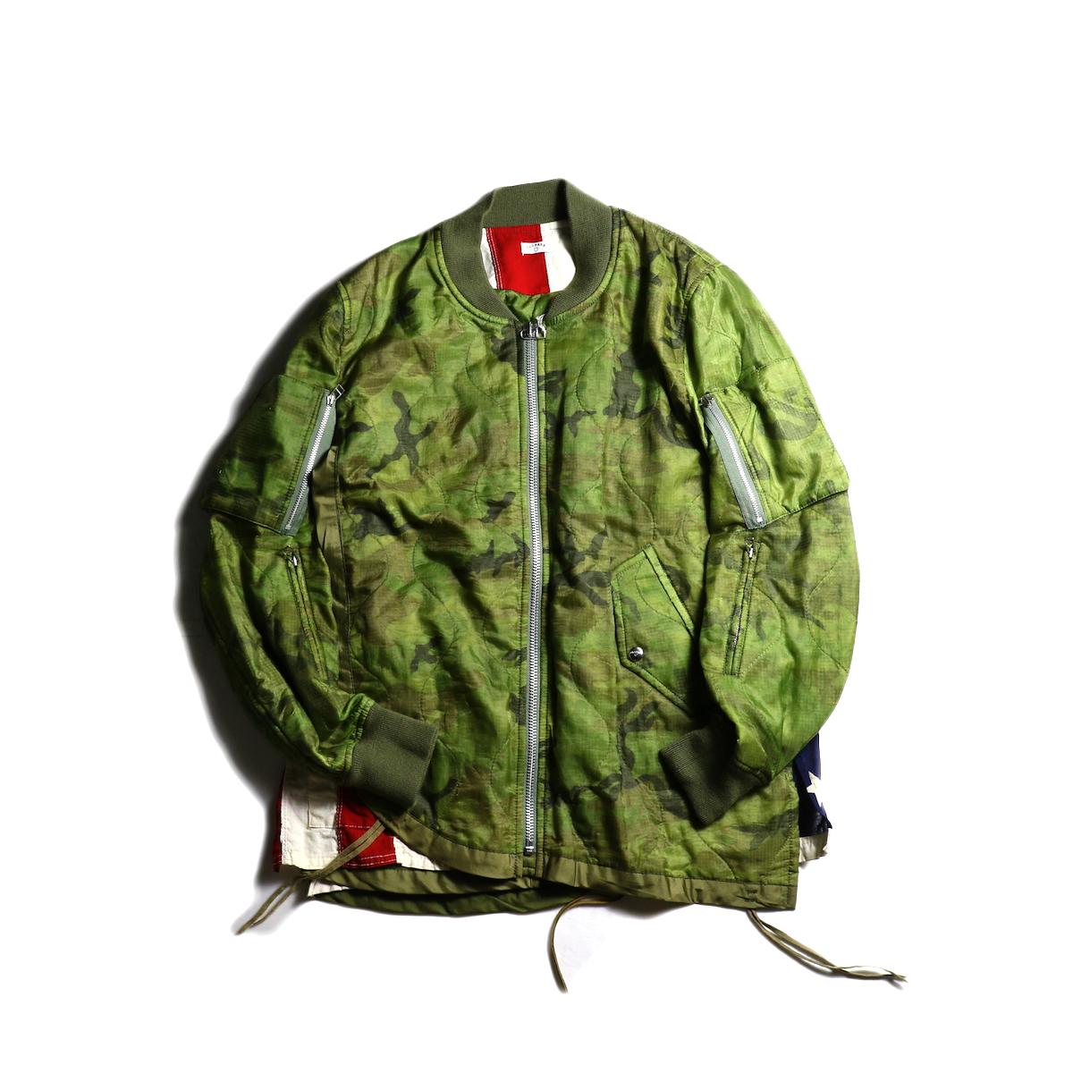 OLD PARK / F.L Flight Jacket (Camouflage-Lsize)