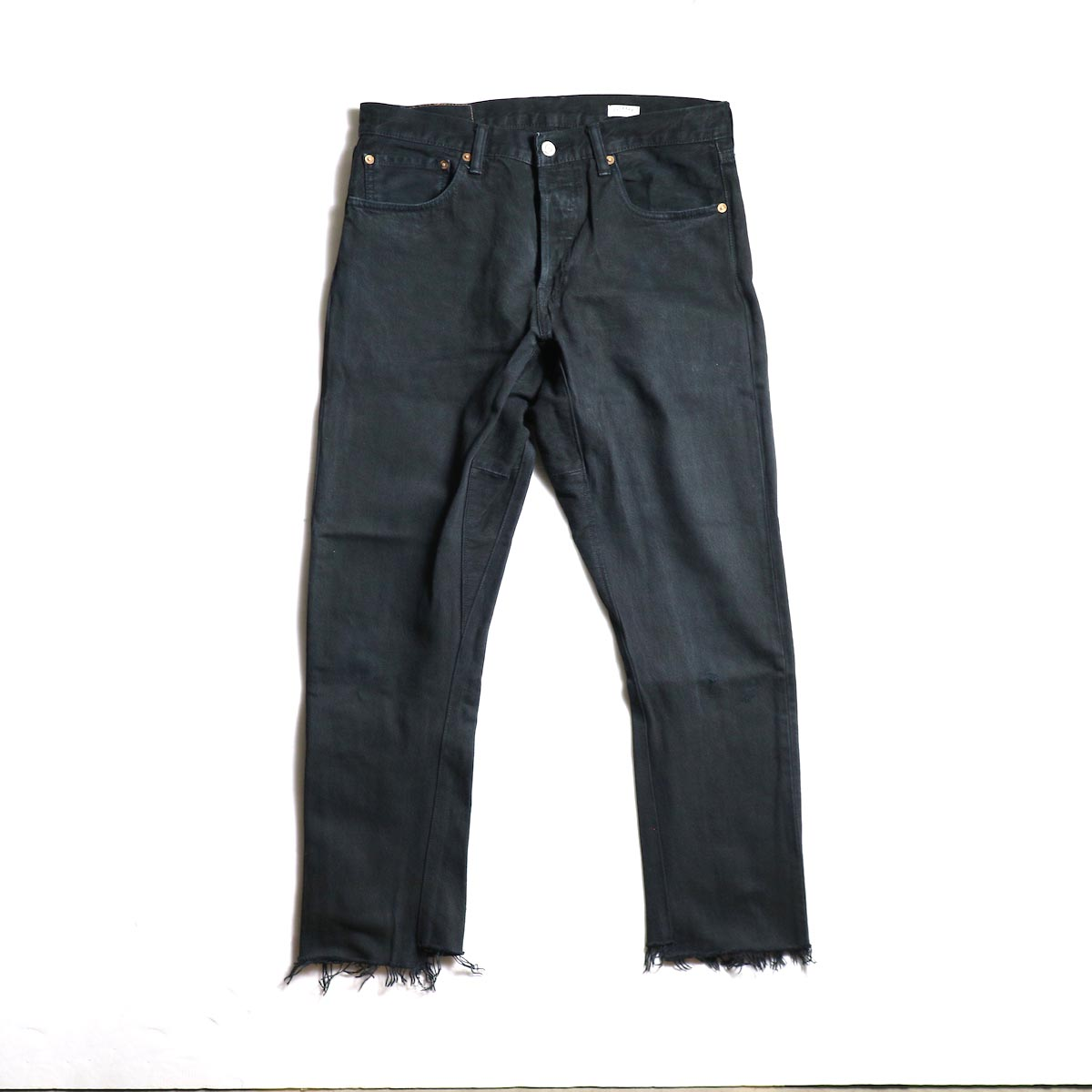 OLD PARK / Gusset Jeans -Black (Ssize-B)