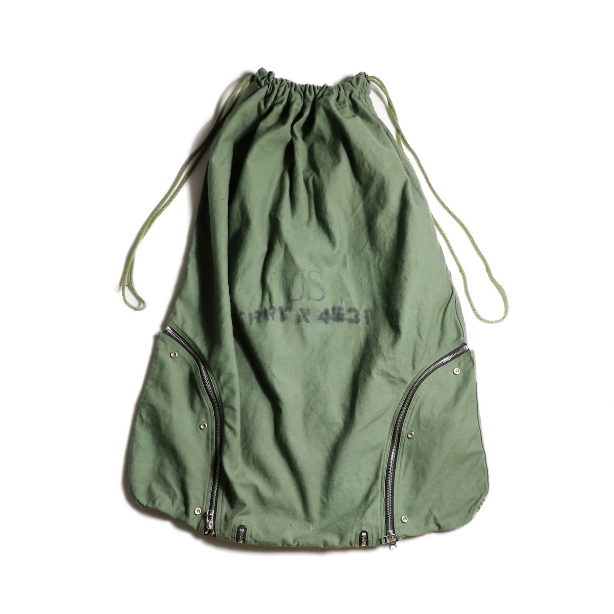OLD PARK / LAUNDRY VEST BAG -Military ランドリーバッグ