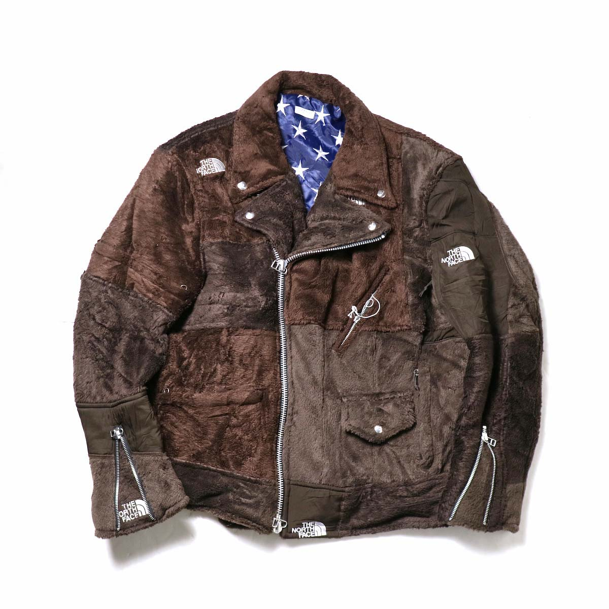 OLD PARK / Oversized Riders Jacket -Outdoor (Brown)