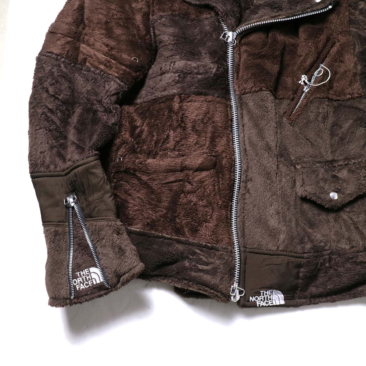 OLD PARK / Oversized Riders Jacket -Outdoor (Brown)袖、裾