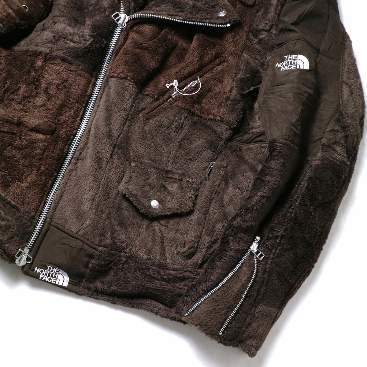 OLD PARK / Oversized Riders Jacket -Outdoor (Brown)袖、裾②