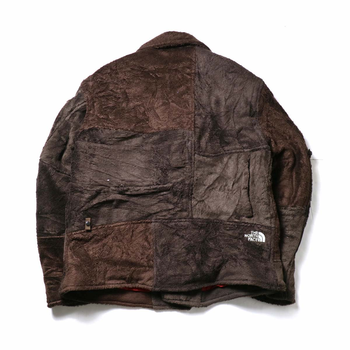 OLD PARK / Oversized Riders Jacket -Outdoor (Brown)背面