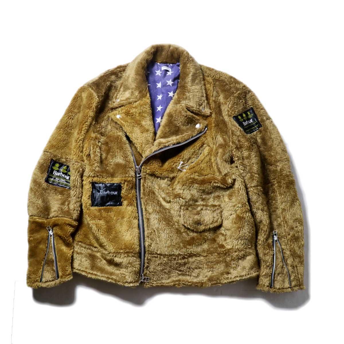 OLD PARK / Oversized Riders Jacket -Liner (Brown)