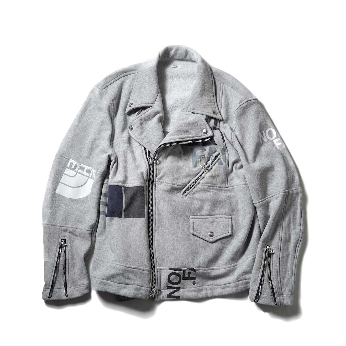 OLD PARK / Oversized Riders Jacket -Sweat