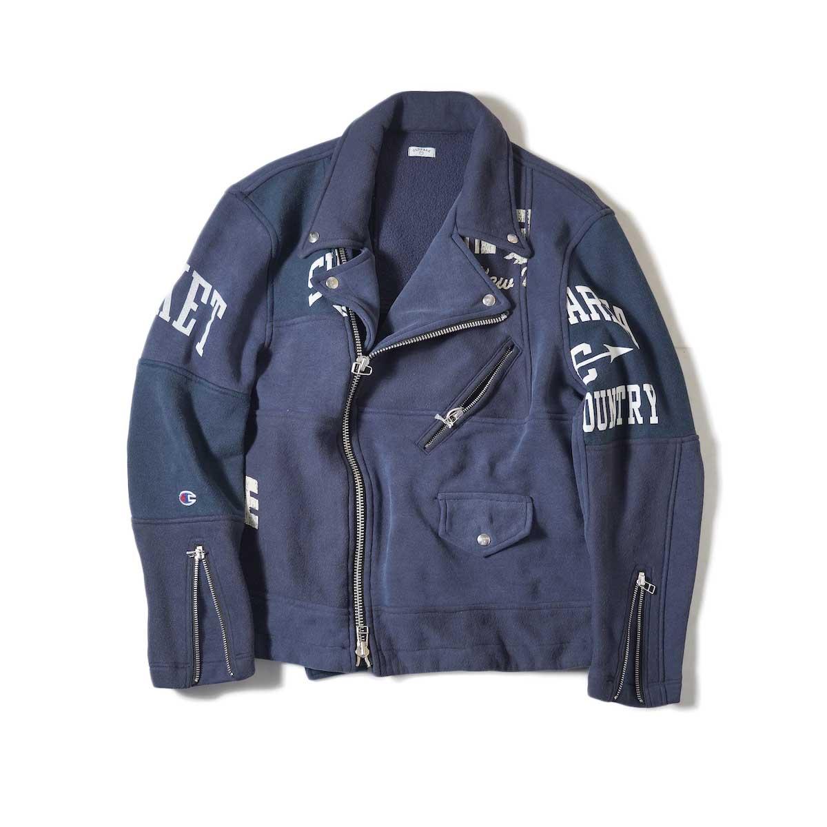OLD PARK / Oversized Riders Jacket -Sweat-Navy