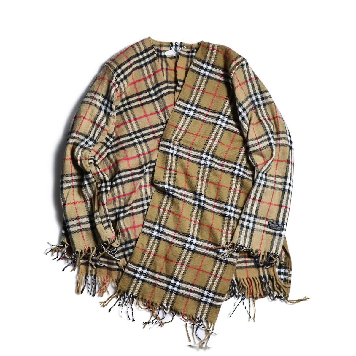 OLD PARK / Scarf Cardigan Burberry -Beige