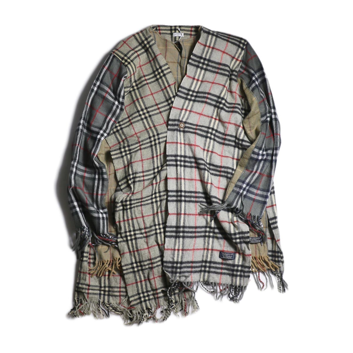 OLD PARK / Scarf Cardigan Burberry -Gray