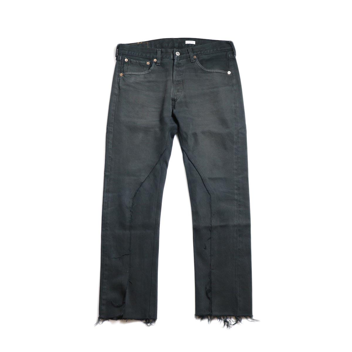 OLD PARK / Slit Jeans -Black Msize (B)