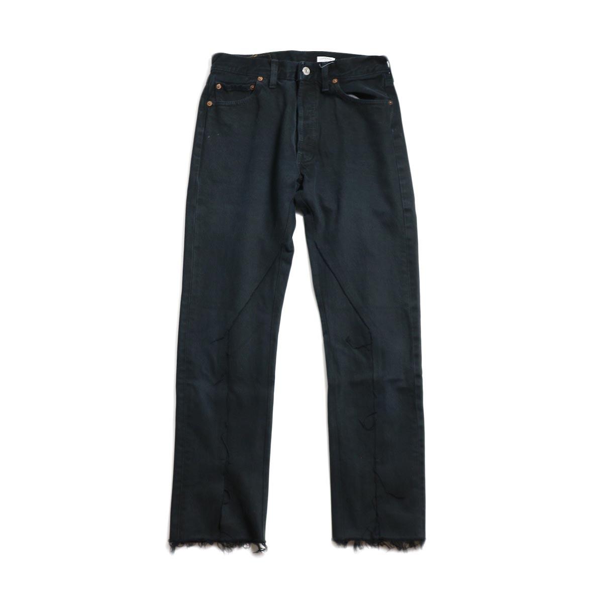OLD PARK / Slit Jeans -Black Ssize (D)