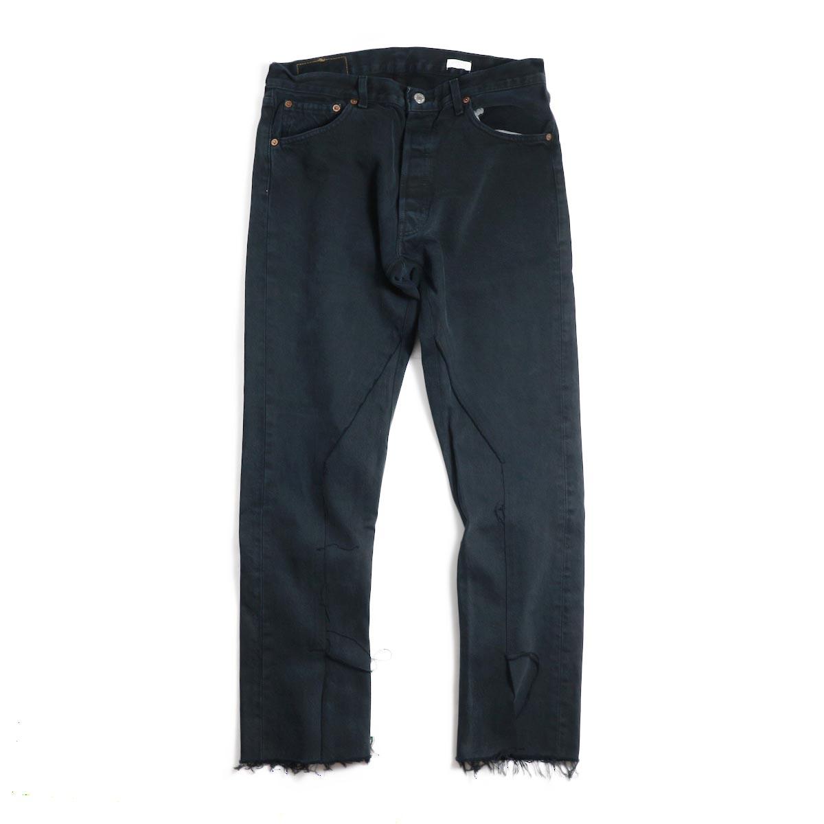 OLD PARK / Slit Jeans -Black Lsize(A)