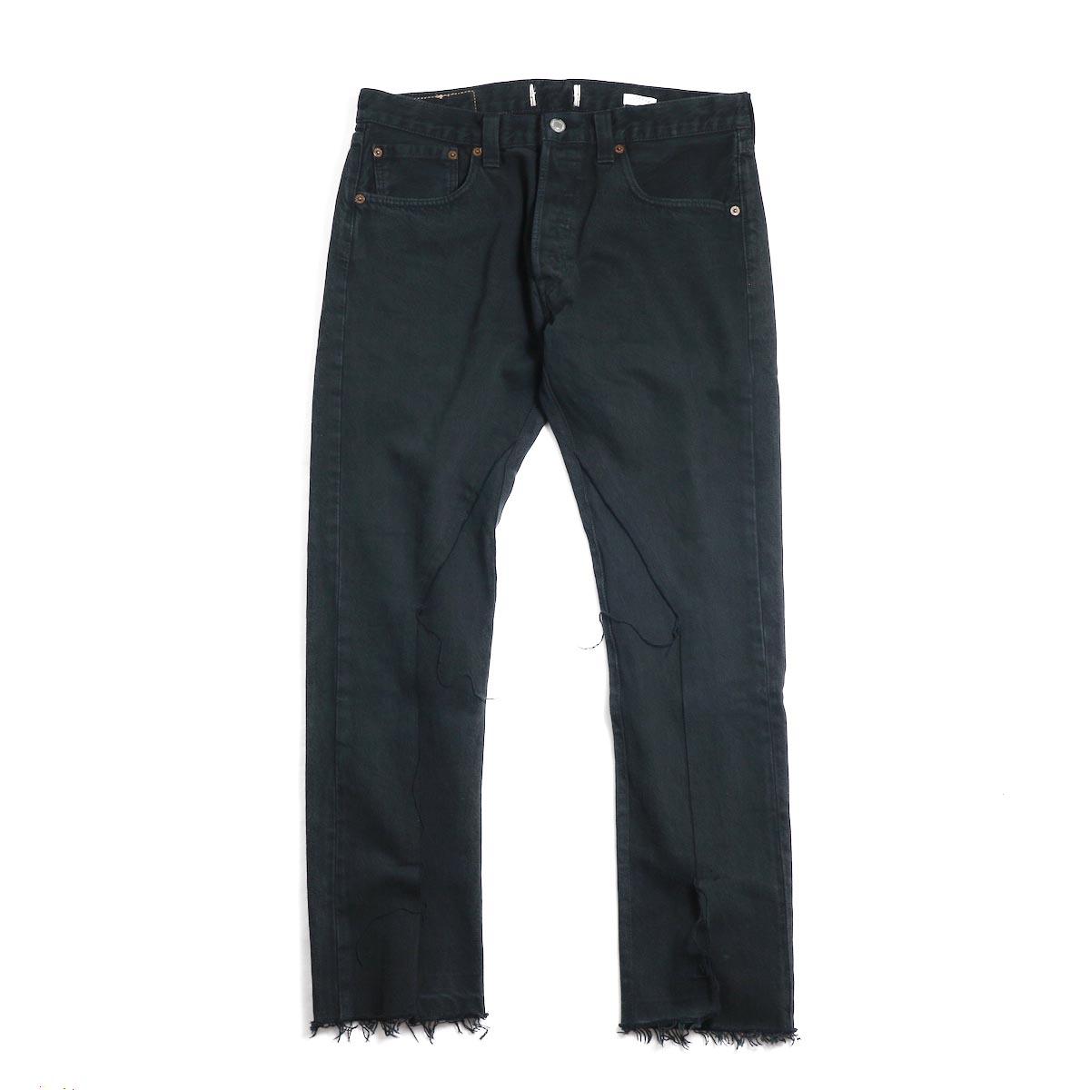 OLD PARK / Slit Jeans -Black Msize(C)