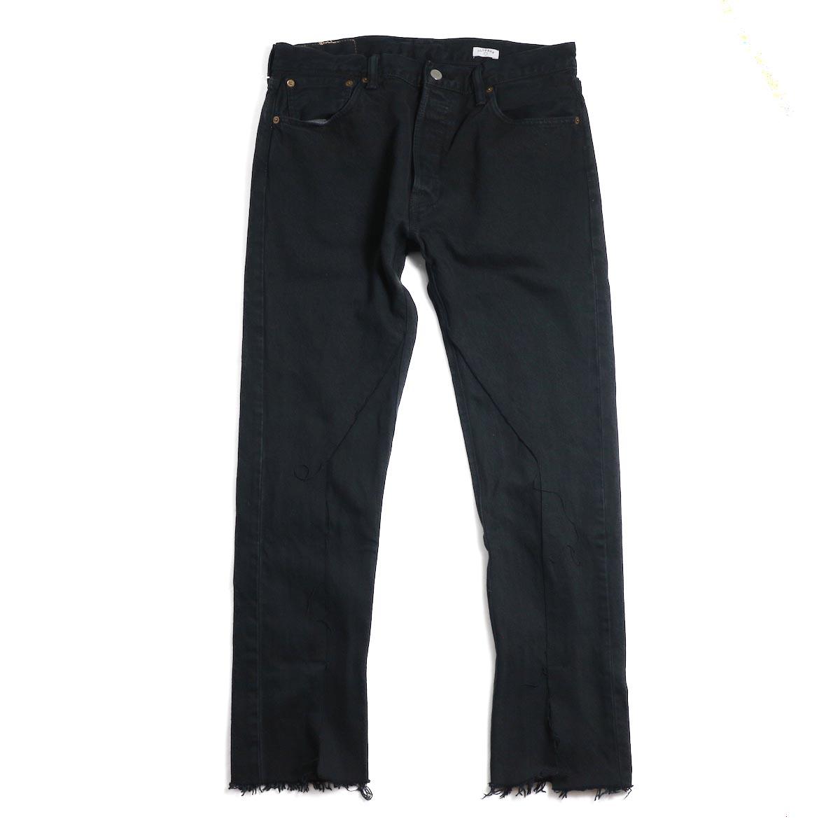 OLD PARK / Slit Jeans -Black Msize(D)