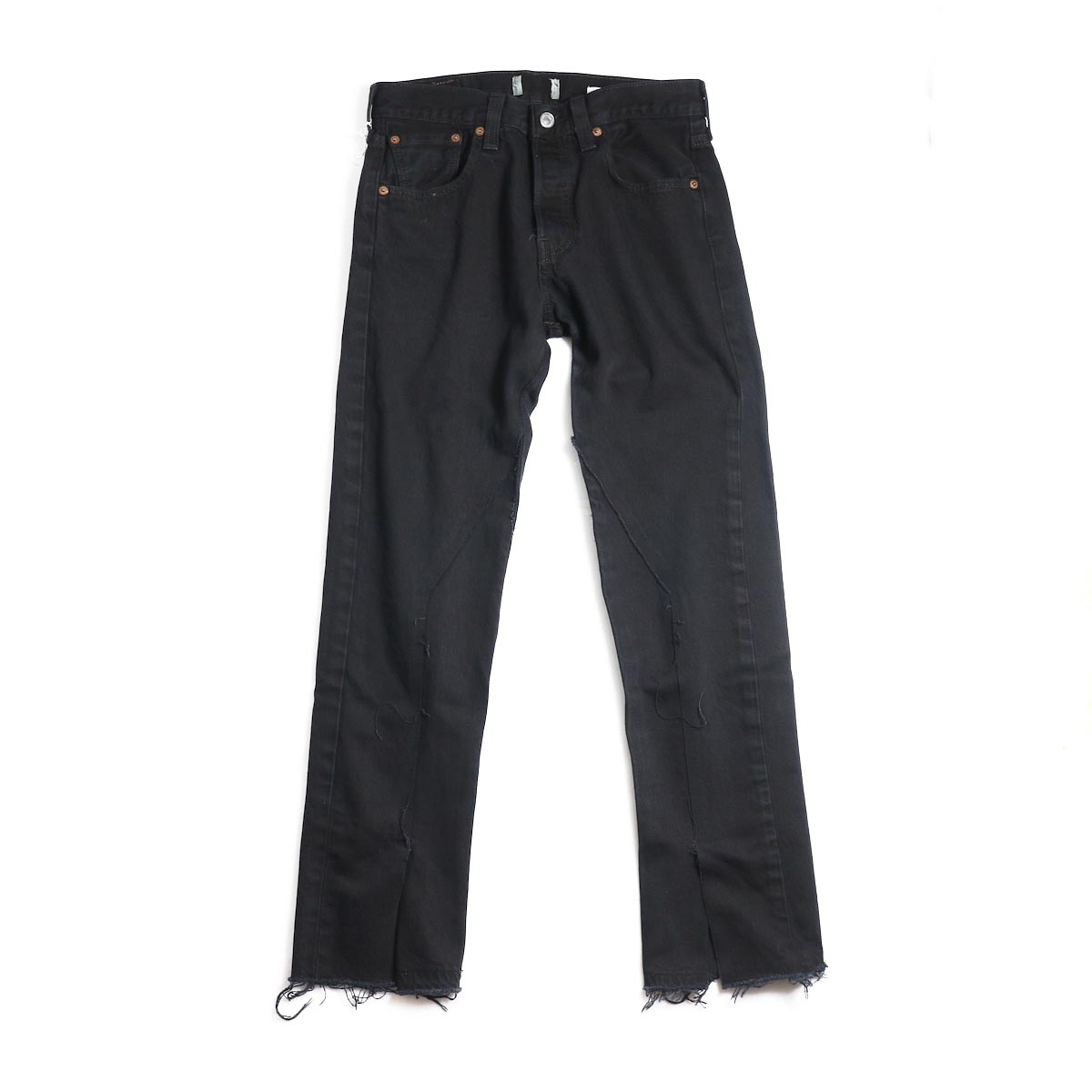 OLD PARK / Slit Jeans -Black Ssize(E)
