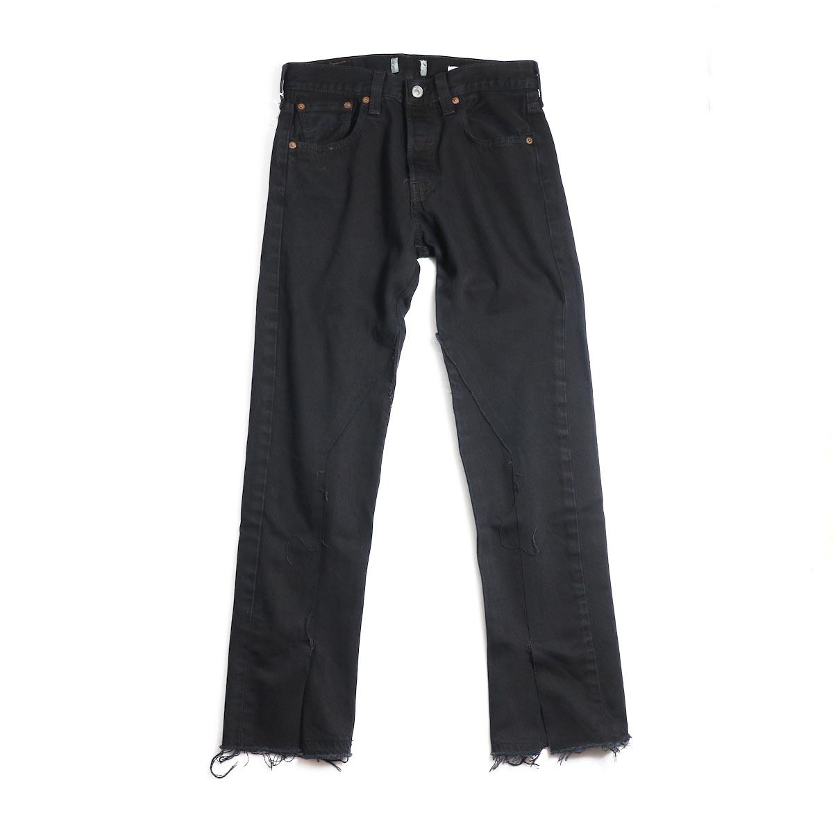 OLD PARK / Slit Jeans -Black Ssize(E)