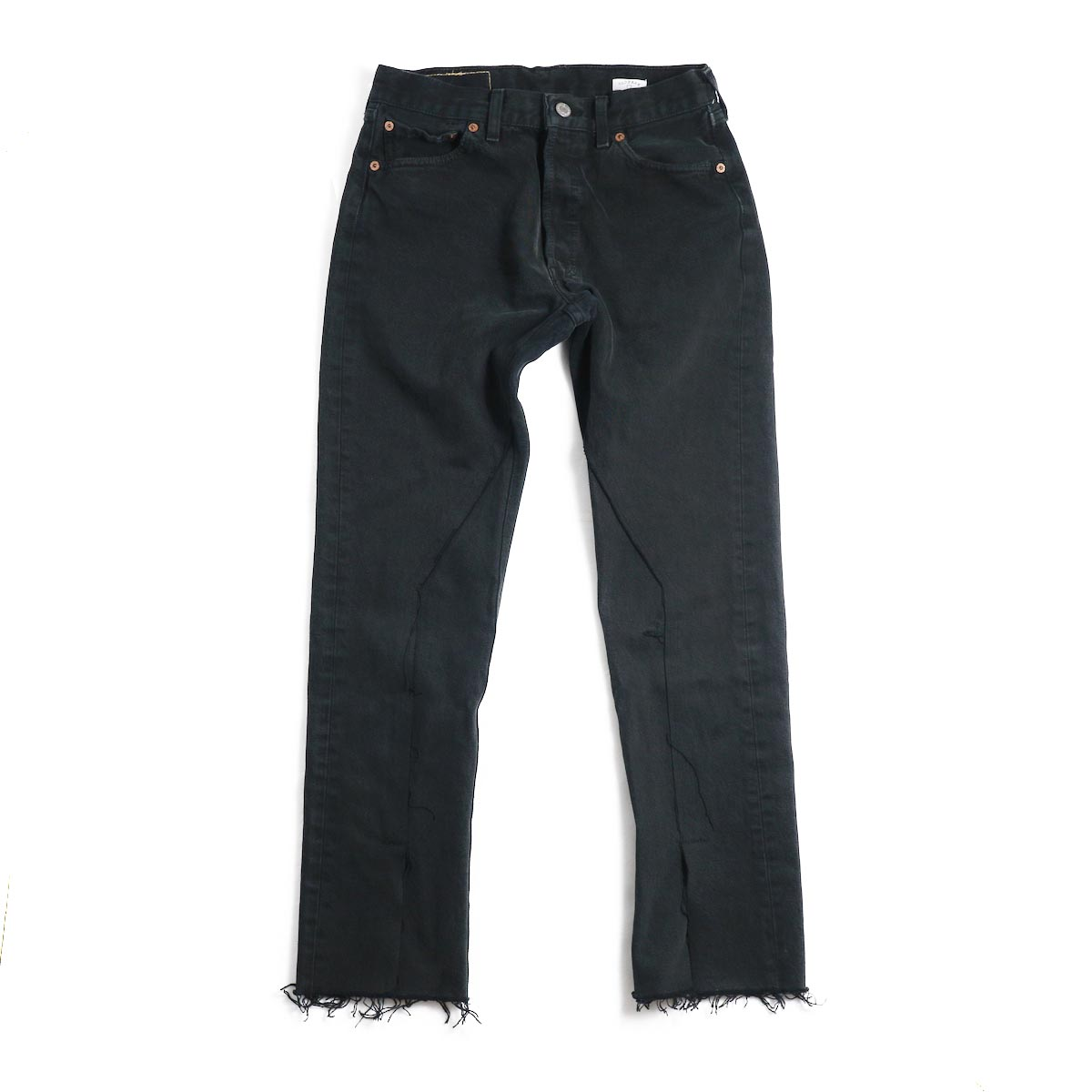 OLD PARK / Slit Jeans -Black Ssize(F)