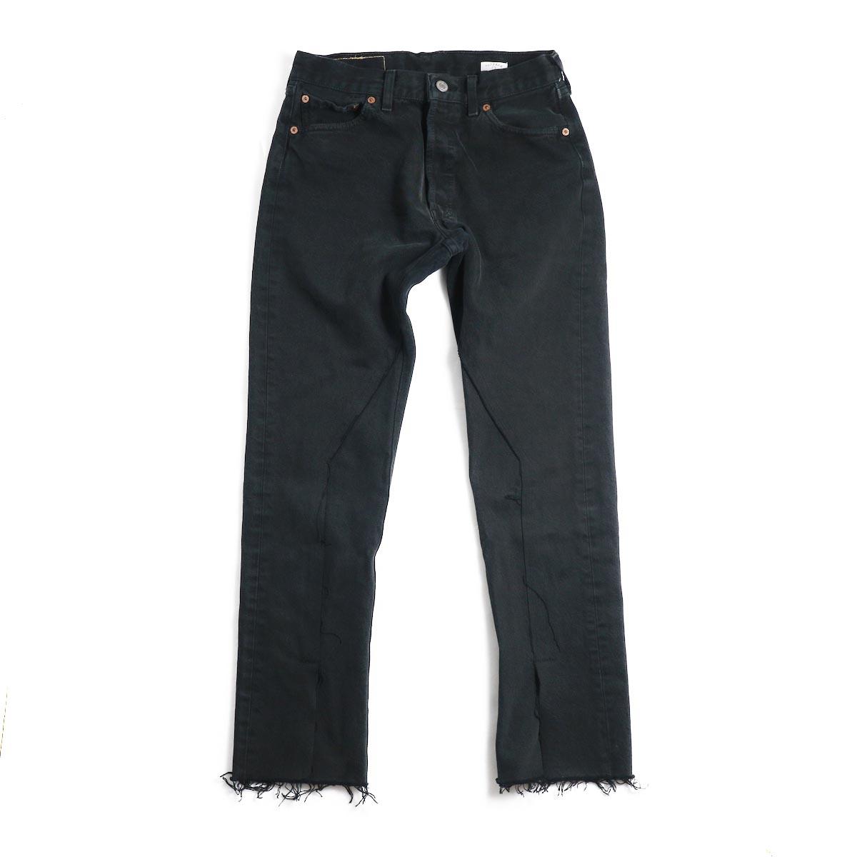 OLD PARK / Slit Jeans -Black Ssize(F)