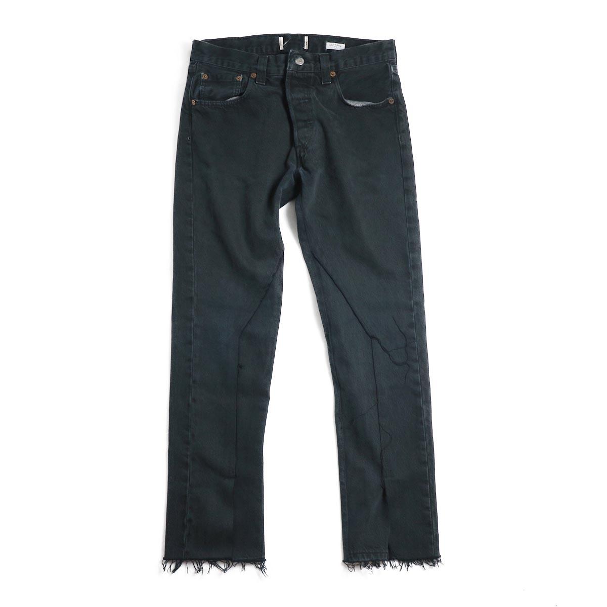OLD PARK / Slit Jeans -Black Ssize(G)