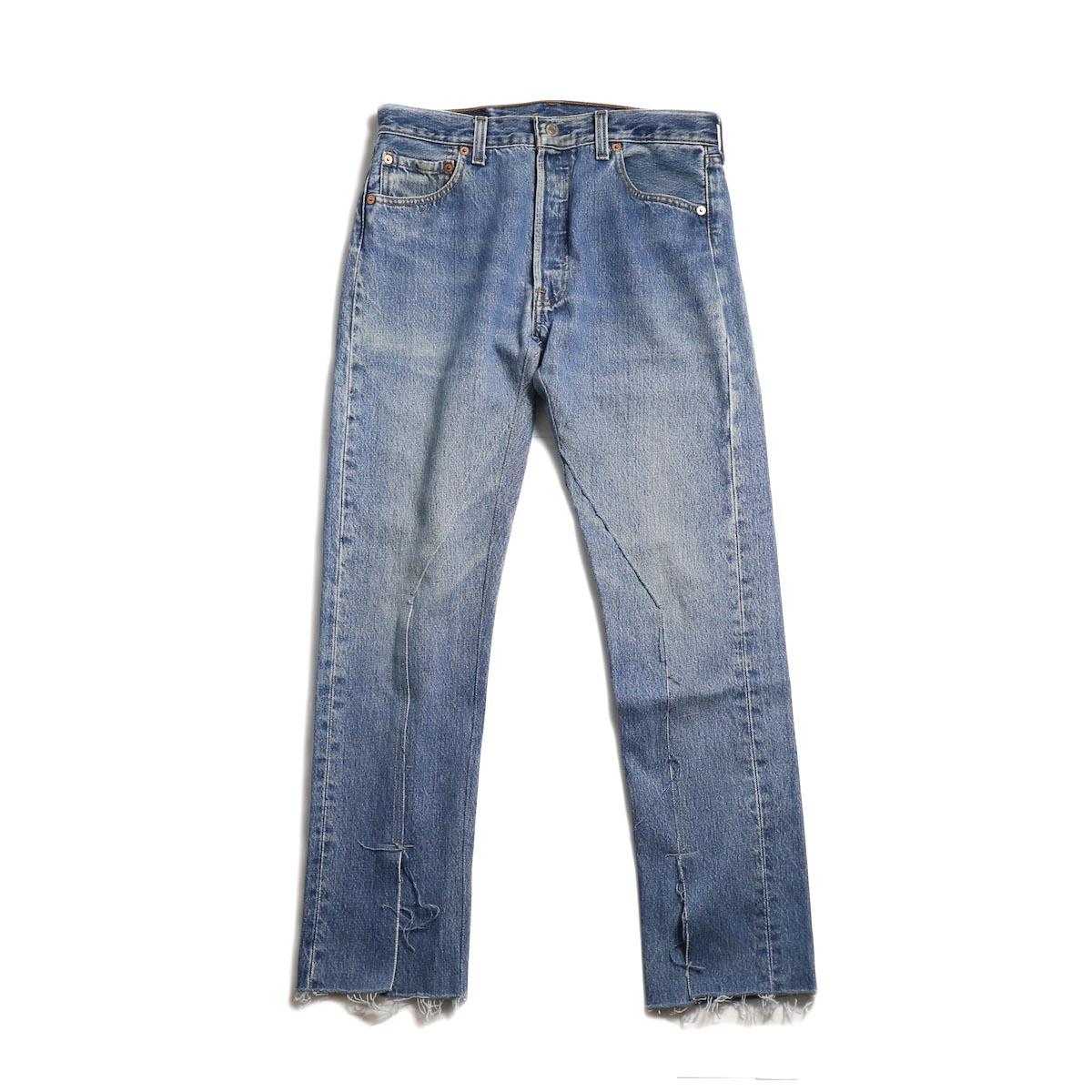 OLD PARK / Slit Jeans -Blue Ssize (B)