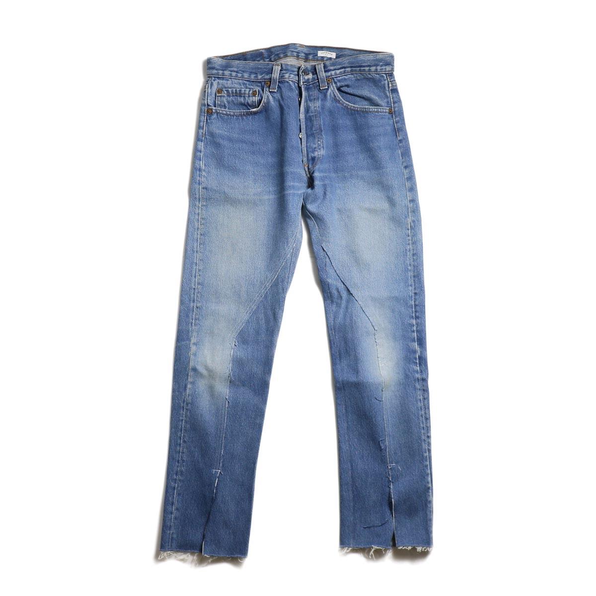 OLD PARK / Slit Jeans -Blue Ssize (C)