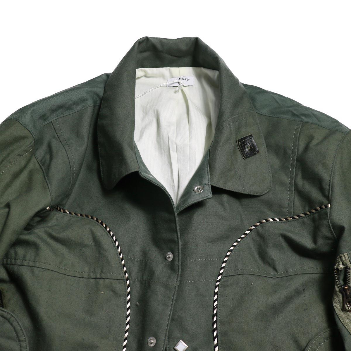 OLD PARK / Scarf Cardigan Burberry (Beige)左裾