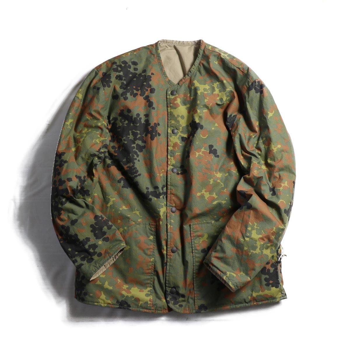 orSlow / Cotton Shell Jacket -Khaki×Dot Camouflage