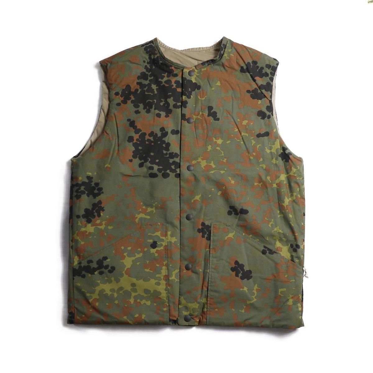 orSlow / Cotton Shell Vest -Khaki×Dot Camouflage