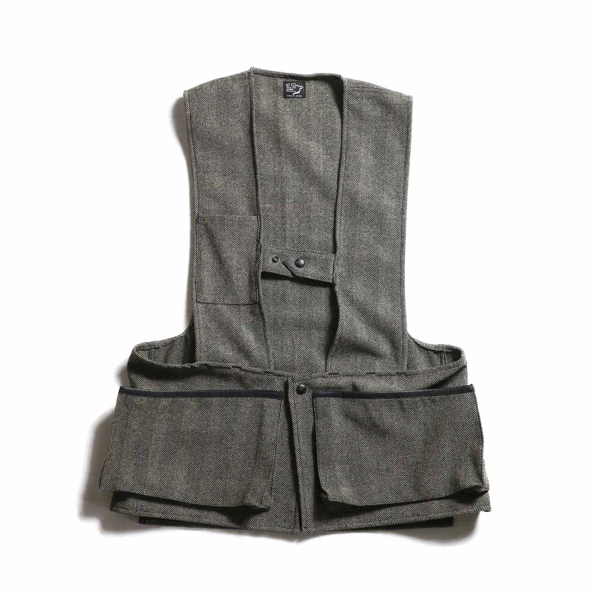 orSlow / Hunting Vest -Melton Wool Herringbone Twill(GRAY)