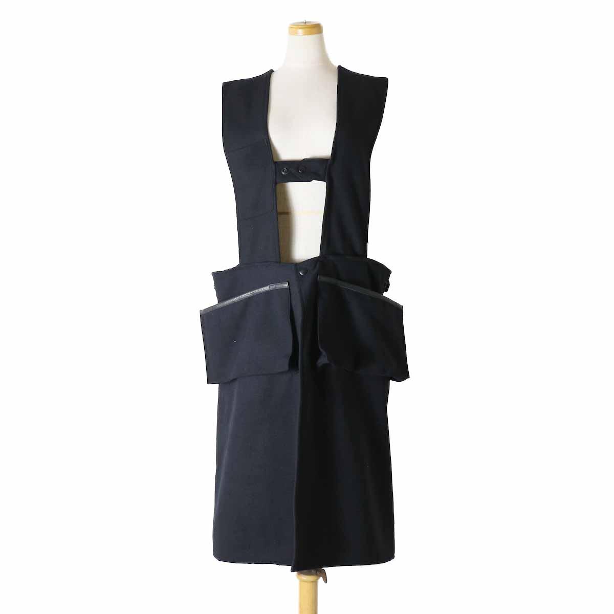 orSlow(Ladies) / Hunting Vest Long -Melton Wool Herringbone Twill(BLACK)