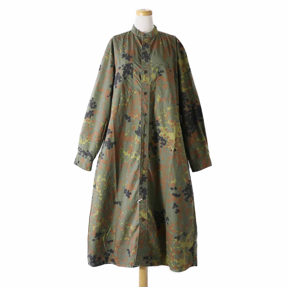 orSlow / Ladies Stand Collar Long Sleeve Shirt -DOT CAMOUFLAGE
