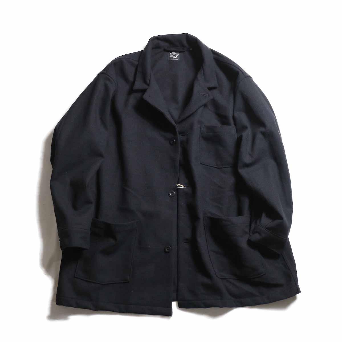 orSlow / Pajama Shirt -Melton Wool Herringbone Twill(BLACK)