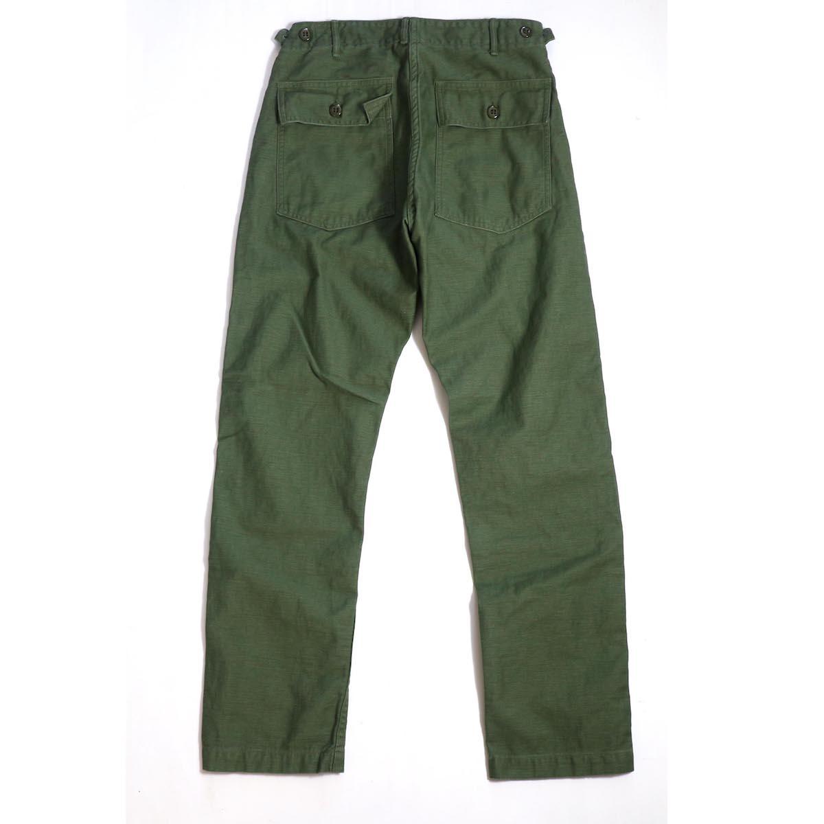 orSlow / SLIM FIT FATIGUE PANTS 背面