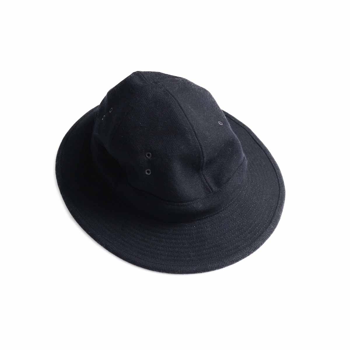 orSlow / US Navy Hat -Melton Wool Herringbone Twill(BLACK)