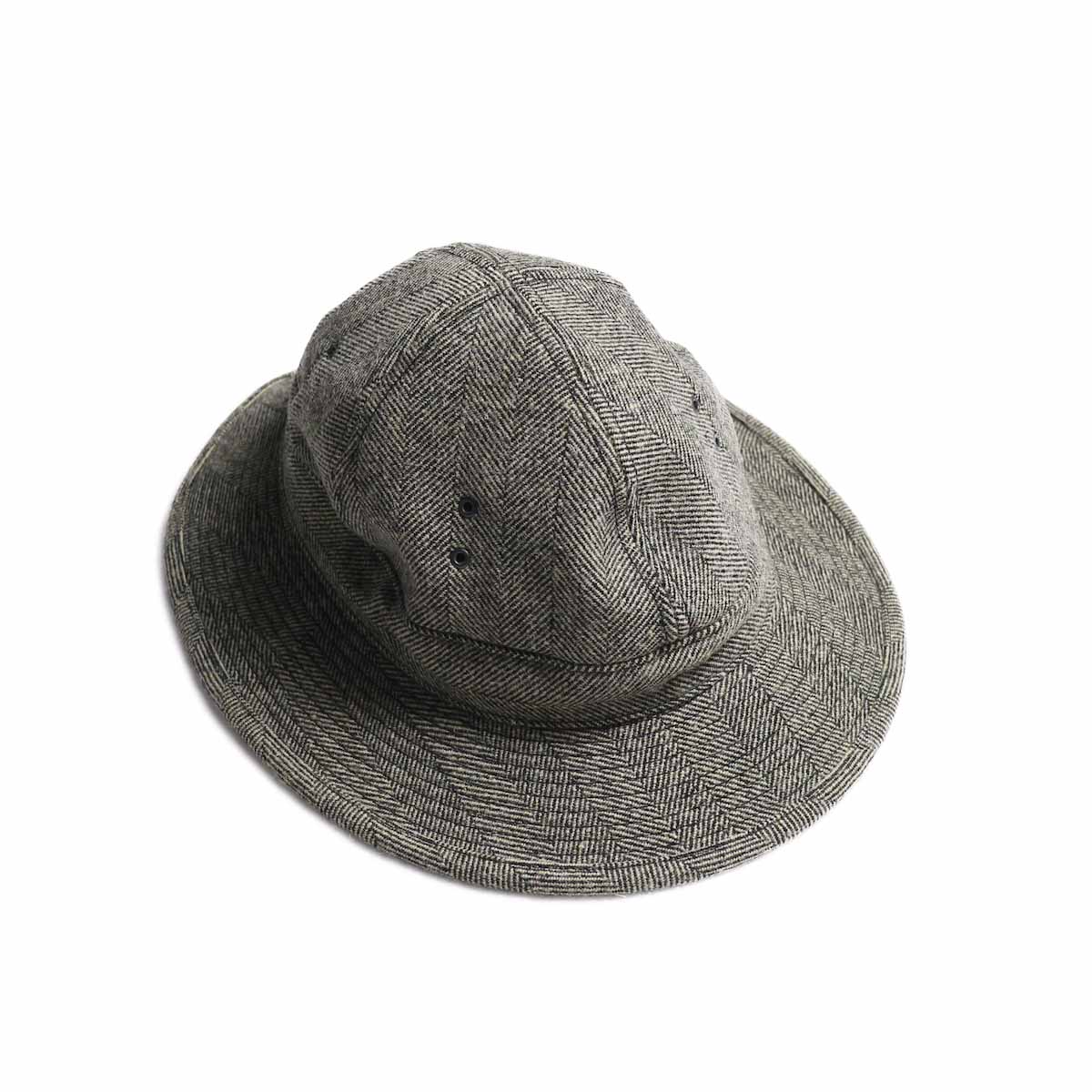 orSlow / US Navy Hat -Melton Wool Herringbone Twill(Gray)
