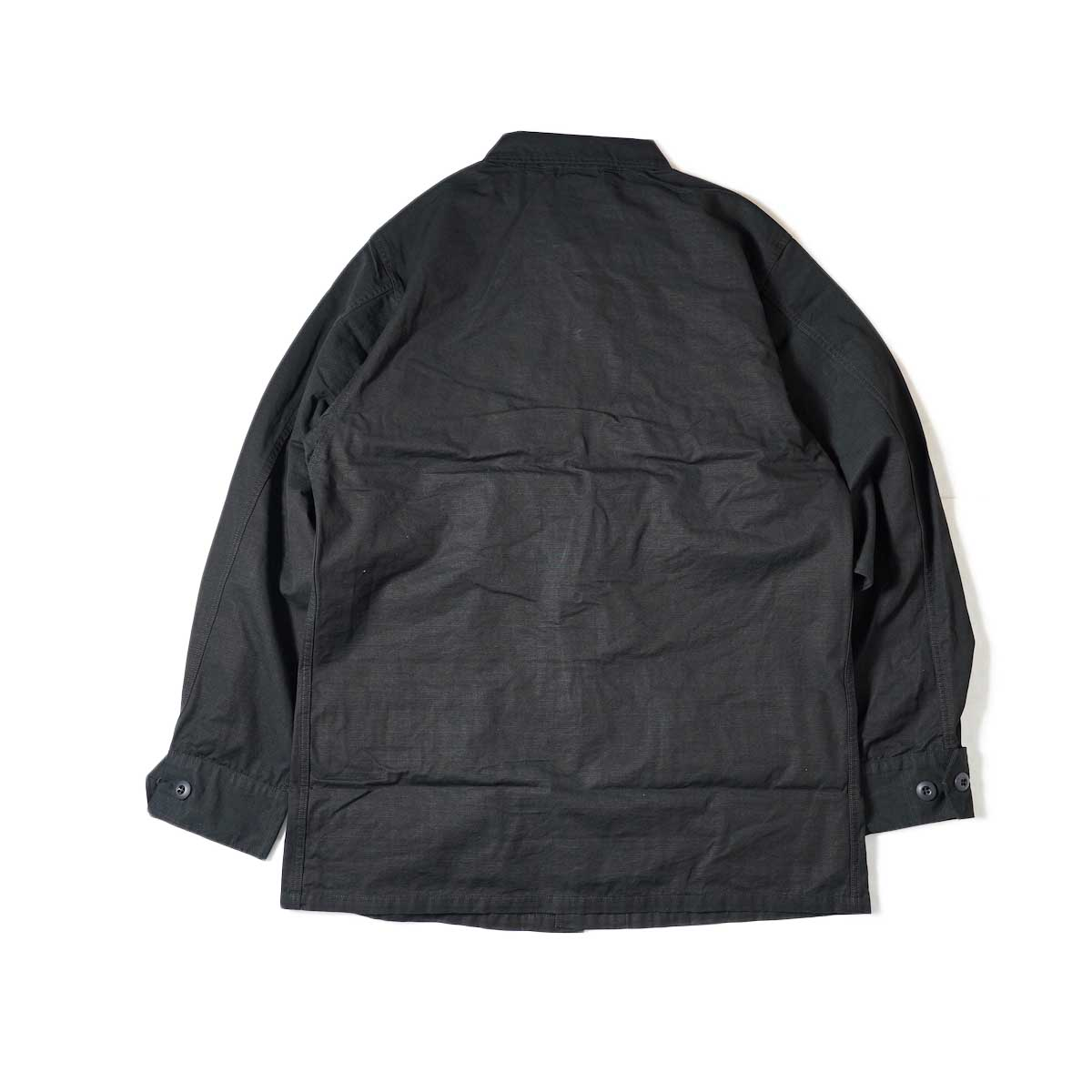orSlow / US Army Tropical Jacket (Black Rip Stop) 背面