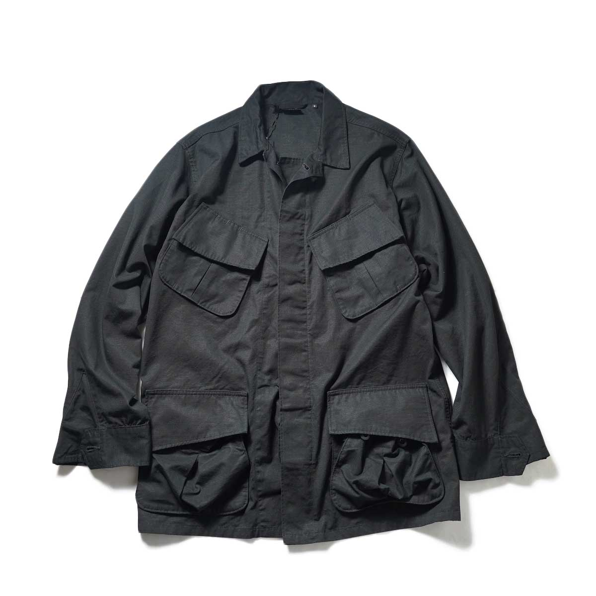 orSlow / US Army Tropical Jacket (Black Rip Stop) 正面