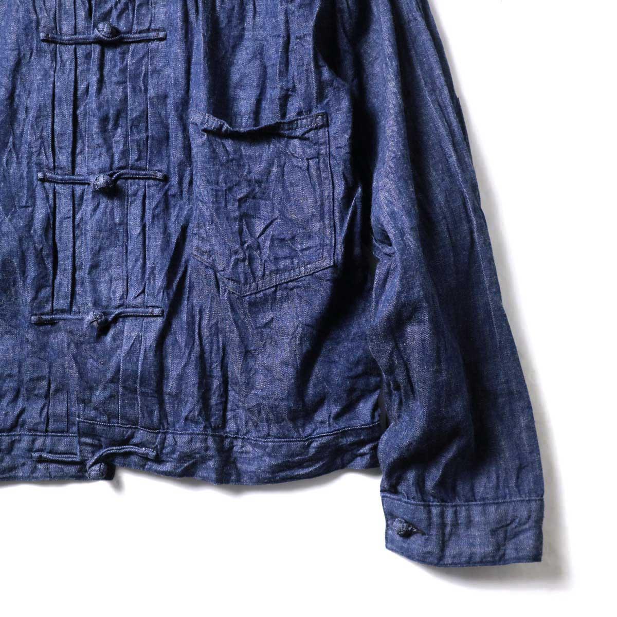 orSlow / Frog Button Denim Jacket (Indigo) 裾、袖